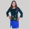 Embroidery stitch women's t-shirt (Black)