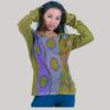 Women's hand work t-shirt (Olive Green)