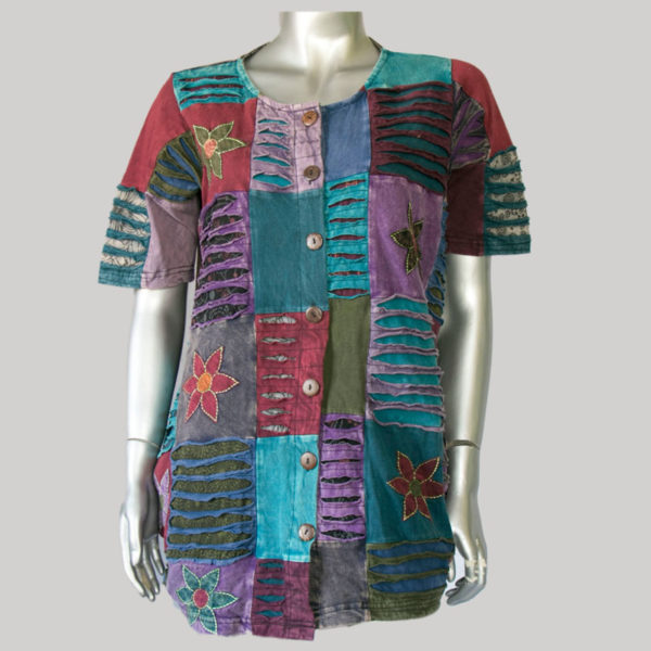 Dress jersey patches razer stone wash & embroidery.