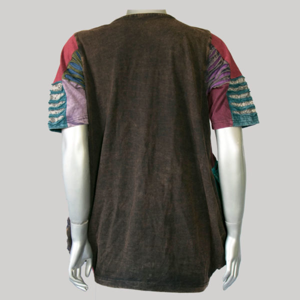 Dress jersey patches razor stone wash & embroidery