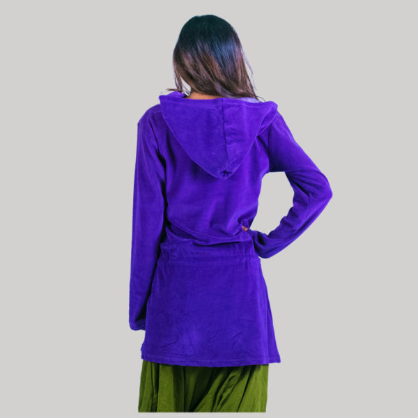 Frock jacket with embroidery stitches (Purple) back