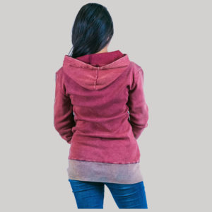 Women rib stone washed jacket