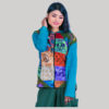Women hand work rib mix patches jacket