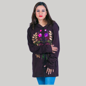 Women's tree cut out hand work jacket (Boysenberry)