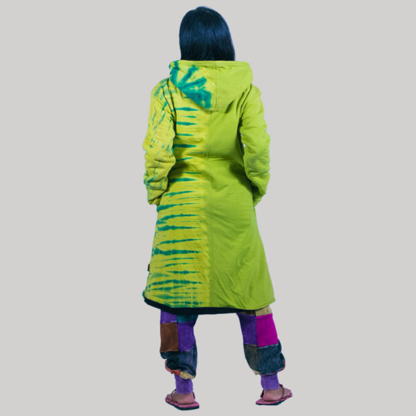 Women's long jersey jacket (Light Green)
