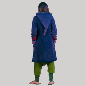 Polar line long women's jacket (Dark Blue)