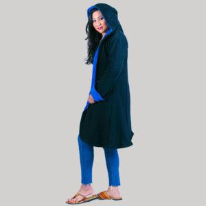 Women's long polar jacket (Dark Blue)