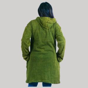 Women's long rib jacket(Olive Green)