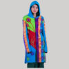 Ti-dye women's long jacket with hand work (Blue)