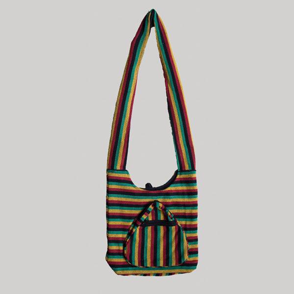 Garments cross body stripes side bag