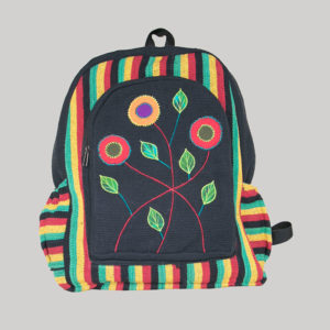 Garments Ghere flower embroidery heavy cotton Bag Pack