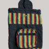 Garments symmetrical striped Flap Bag pack