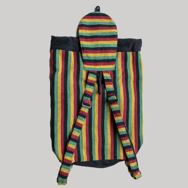 Garments symmetrical striped Flap Bag pack