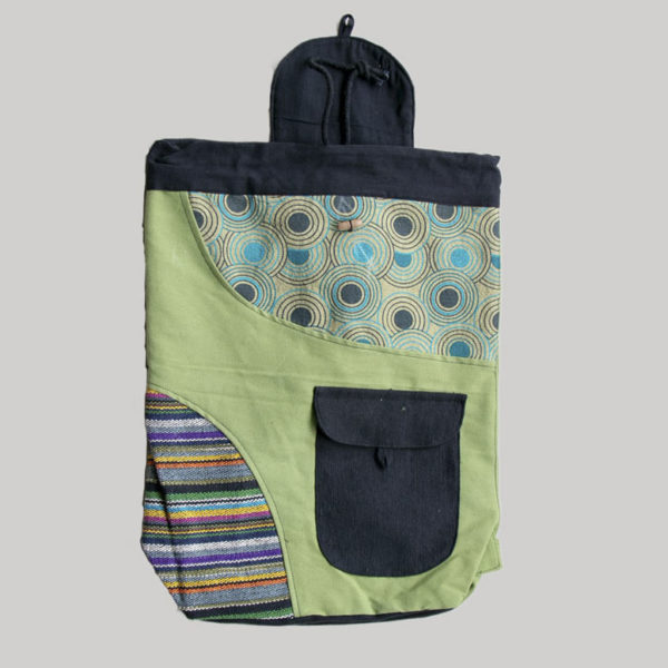 Garments printed flap bag pack with flap pocket