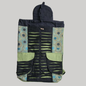 Garments Symmetrical Razor Printed Flap Bag pack