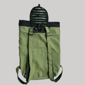 Garments Symmetrical Razor Printed Flap Bag pack