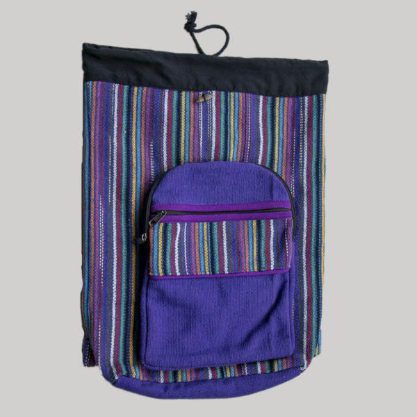 Garments Striped string Bag pack