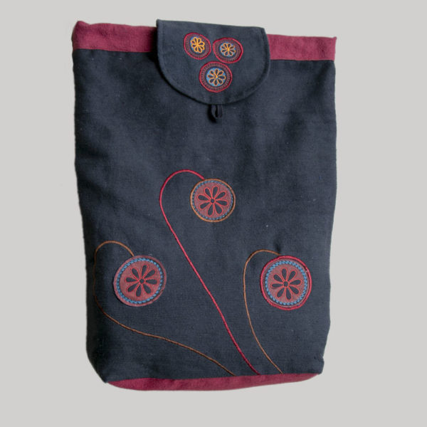 Garments Flap Flower Embroidery Bag pack