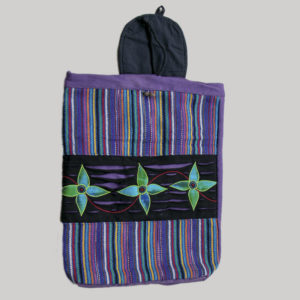 Garments Flower Embroidery stripe bag pack