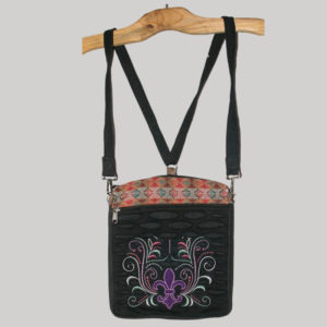 Small bag-pack with Fleur-de-files embroidery