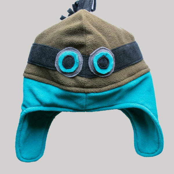 Minion motif design ear-flap cap