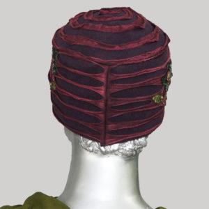 Flower hand work cap for women with razor cut