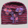 Symmetrical razor cut flower hand work cap