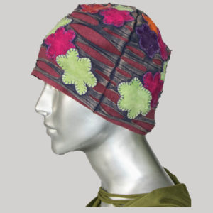 Overlapped flower hand work with razor cut Cap