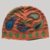 Leaf motif with beats stone wash cap