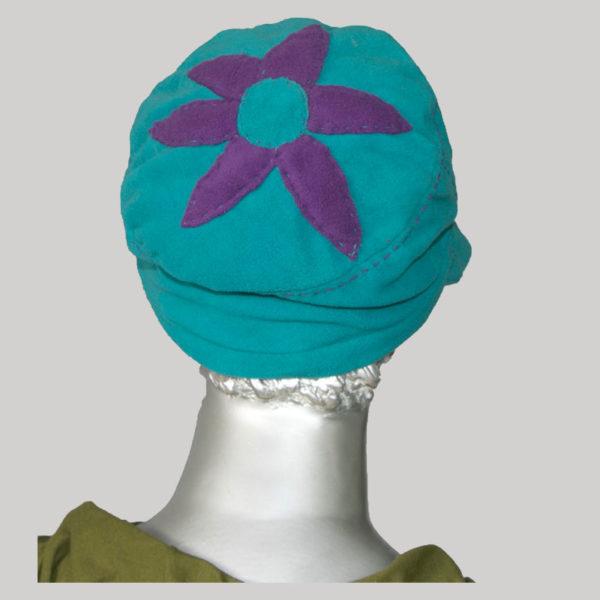 Flower hand worked cap