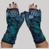 Women's gloves flower & leaf embroidery