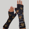 Gloves with Fleur-de-lees embroidery