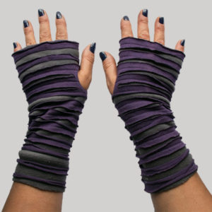 Gloves with jersey cotton and symmetrical razor cut