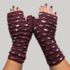 Women's gloves with tie dye and razor cut