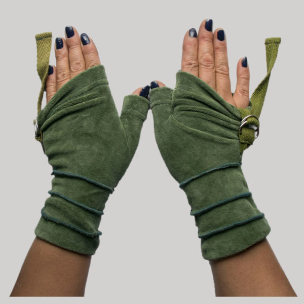 Women's gloves velour picu patch with bacul