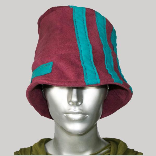 Stripe patch hand stitched cap