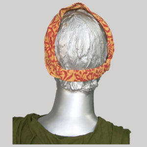 Hand loom printed fabric head scarf