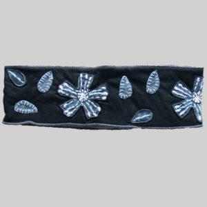 Flower cut out hand work women's headband
