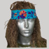Hand loom headband for women with RE embroidery