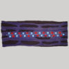 Symmetrical razor cut polar fleece women's headband