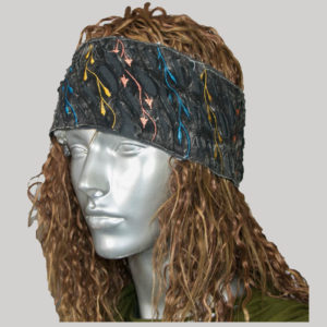 Stone washed razor cut women's headband