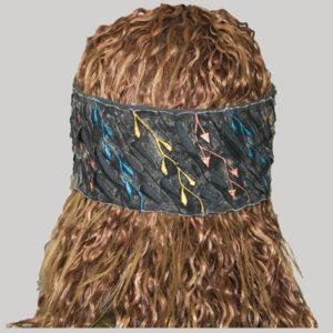 Stone washed razor cut women's headband