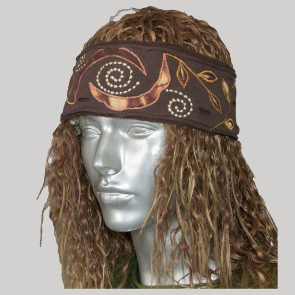 Jersey headband with embroidery & razor cuts