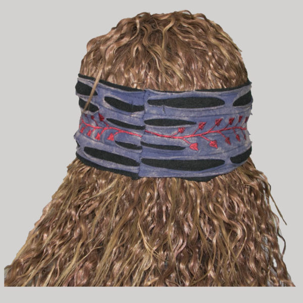 Leaf, branch embroidery women's headband