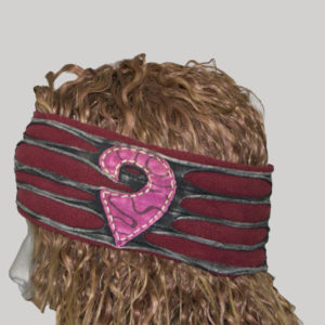 Hand stitched polar patches women's headband