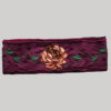 Asymmetrical razor cut & embroidery women's headband