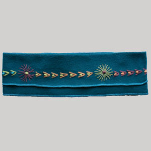 Hand stitched polar fleece headband