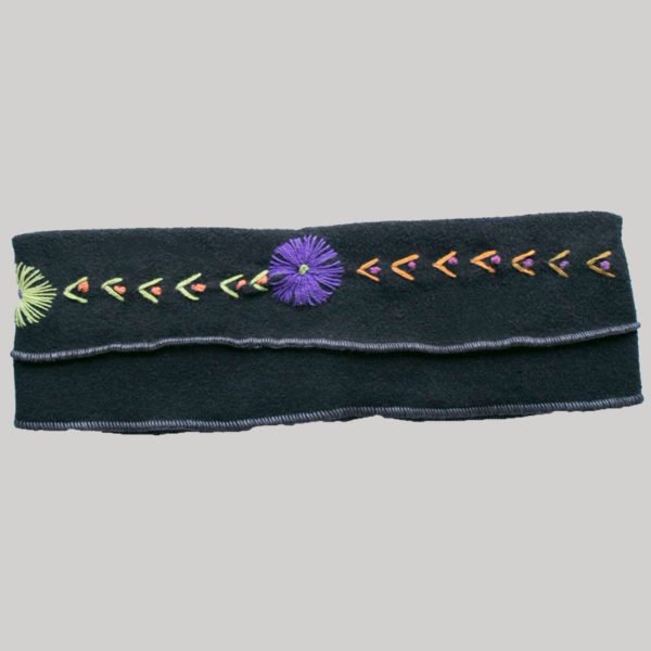 Hand stitched polar fleece headband
