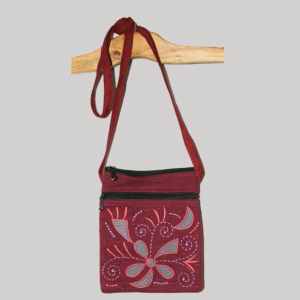 Women's passport heavy jersey cotton bag
