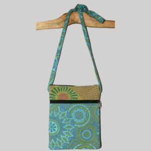 Women's passport bag with prints